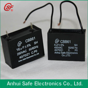 High Quality AC Ceiling Fan Capacitor Cbb61 250V pictures & photos