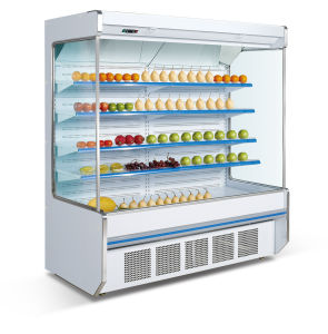 China Manufacture Open Refrigerator Display Showcase pictures & photos