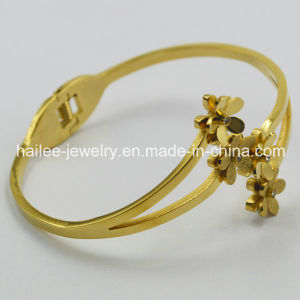 Fashion Jewelry Bangle Stainless Steel Flower Bangle Bracelet pictures & photos