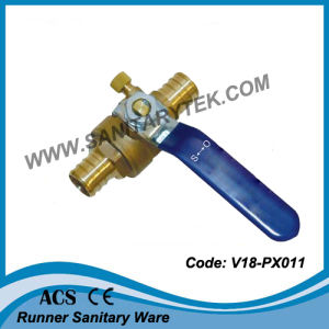 Pex Ball Valve with Drain Valve (V18-PX011) pictures & photos