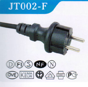 VDE Approved 2pins European Power Cord Plug (JT002-F) pictures & photos