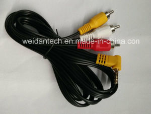 3.5mm Stereo Audio Triple Channel to 3RCA Chromatic Component Line pictures & photos