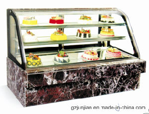 Double Arc Luxury Marble Cake display Showcase pictures & photos