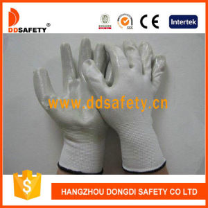 Ddsafety 2017 White Nylon with Grey Nitrile Glove pictures & photos