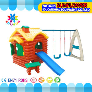 Forest House Swing Combination Play House Kids Plastic Playhouse Indoor Playground Equipment (XYH-0139) pictures & photos