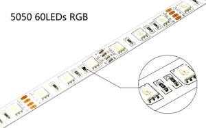 High Quality Flexible SMD5050 60LEDs/M DC24V RGB LED Light Strip pictures & photos