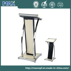 Beige Artificial Leather Wooden Stainless Steel Pulpits for Churches pictures & photos