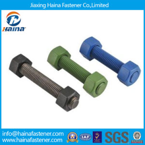 High Strength Full Thread Stud Bolts with Teflon Surface pictures & photos