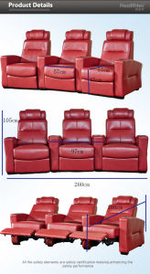 3D Model Cinema Hall Chair for Home Theatre (T016-S) pictures & photos