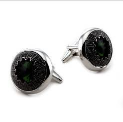 Crystal/Metal/Stone Fashion Cufflinks (H0049) pictures & photos