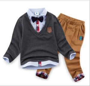 2015 New Arrival Two-Piece Autumn Winter Fashion Cotton Cool Kids Suit Children Apparel pictures & photos