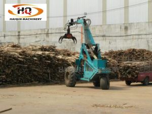 Strong Three Wheel Grab Loader (HQ4200) with Timber Grab pictures & photos