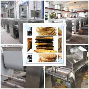 Hot Sale Full Automatic Sandwich Biscuit Production Line pictures & photos