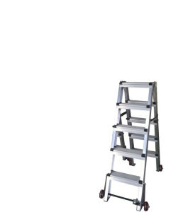 (375LBS) Aluminum Alloy Portable and 5-Step Ladder with Casters pictures & photos