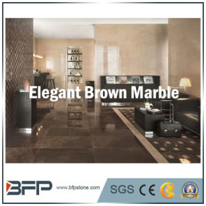 Brown Marble Floor Tile with Polished Finish Widely Used in Building Flooring/Wall/Desk Top pictures & photos