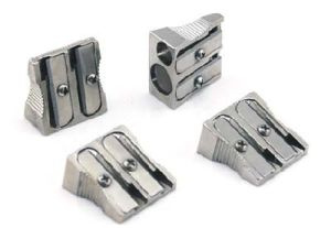 2 Holes Silver Metal Pencil Sharpener for Student pictures & photos