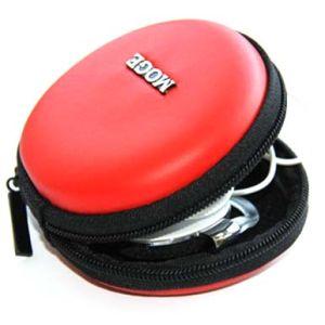 Red Round Zipper Portable Earphone Storage Hard EVA Case pictures & photos