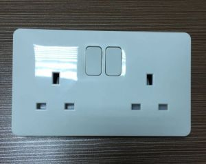 2015 New Design Double 13A Wall Switched Socket pictures & photos