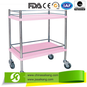 ISO9001&13485 Certification Economic Durable Hospital Treatment Trolley with Baskets pictures & photos