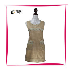 100% Cotton Yarn Dyed Printing Women′s Cooking Kitchen Apron