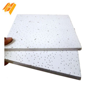 Fissured Mineral Wool Sound Absorption Ceiling Tile pictures & photos