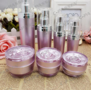 New Arrival Rose Acrylic Cream Jar Lotion Bottle for Cosmetic Packaging (PPC-CPS-064) pictures & photos