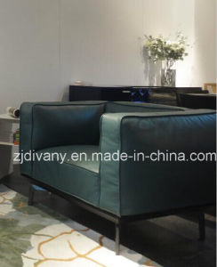 European Style Leather Single Sofa (D-73-A) pictures & photos