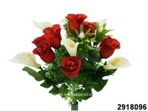 Artificial/Plastic/Silk Flower Rosebud/Calla Lily Mixed Bush (2918096) pictures & photos