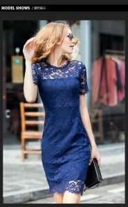 OEM European Style Patch Work Women Lace Dress pictures & photos