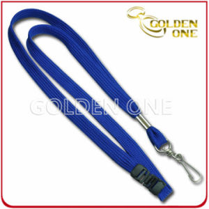 Promotion Pure Color Nylon Tube Lanyard with Metal Swivel Hook pictures & photos
