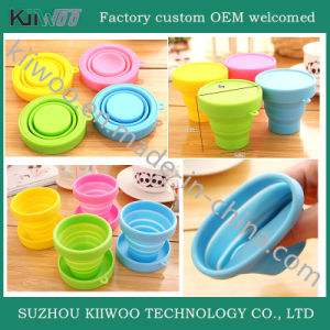 Softness Gift Silicone Coffee Foldable Cup pictures & photos
