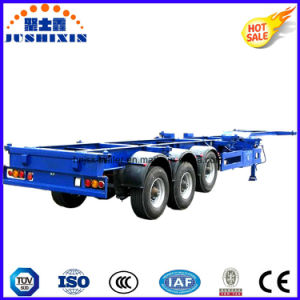 Three Axles 20FT Skeleton Container Truck Semi Trailer for Sale pictures & photos