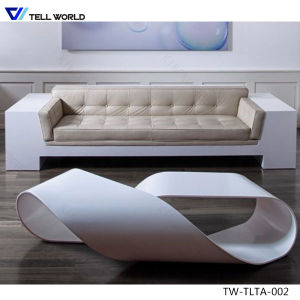New Design Luxury Solid Surface Dining Table and Chairs Home Furniture Design pictures & photos