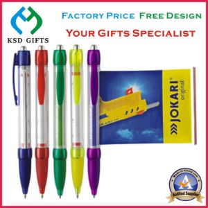Print Your Logo Plastic Promotion Multicolor Ball Pens pictures & photos