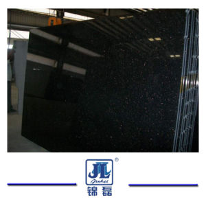 Popular Polished Black Galaxy Granite for Kitchen & Bathroom Countertops Floor Tiles/Steps pictures & photos
