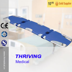 Medical Aluminum Alloy Foldaway Stretcher (THR-1A1) pictures & photos
