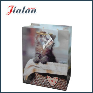 Whosale Cheap Coated Paper Printed Cat Design Shopping Gift Bag pictures & photos