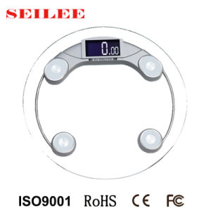 200kg/50g Clear Glass Digital Household Health Body Weighing Scale pictures & photos
