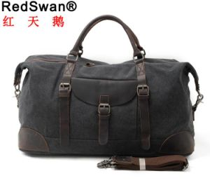 Double Handstraps Duffel Bag Washed Canvas Travel Handbag Washed Canvas Sport Handbag (RS-82056K) pictures & photos