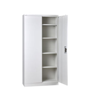 Grey Color Office Furniture 2 Door Steel Filing Storage Cabinet with Four Shelves pictures & photos