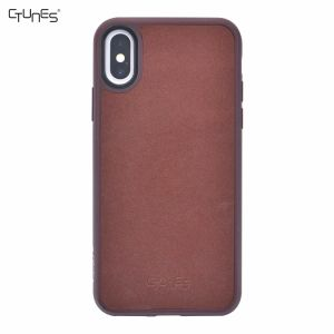Premium Gold Sand Leather Skin Leather TPU Soft Back Phone Skin Case Cover for iPhone X pictures & photos