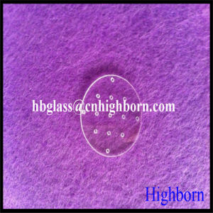 Ge Material Customize Drilling Hole Silica Quartz Glass Plate pictures & photos