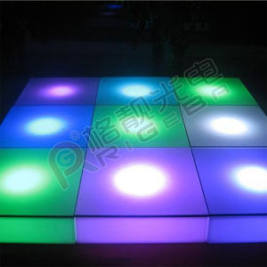 LED Stage Light  Battery Remote Control Plastic Dance Floor pictures & photos