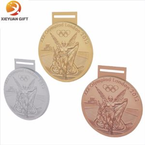 Promotional Cheap Nickel Plated Medallion with Ribbon (XY-MXL73003) pictures & photos