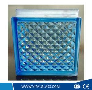 Blue Lattice Glass Block for Decoration pictures & photos