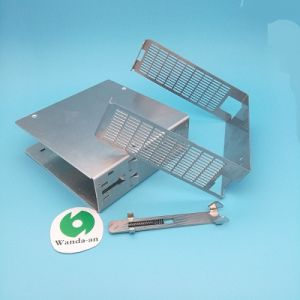 High Quality Stamped Metal Parts with Black Anodization. pictures & photos