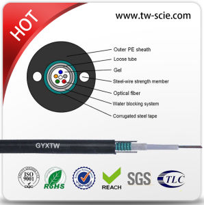 Single Mode G652D Fiber Optic Cable Unitube Type GYXTW pictures & photos