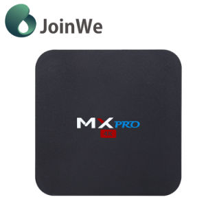 Hot Selling 2017 1+8g Mx PRO 4K Amlogic S905 Android 5.1 Smart TV Box pictures & photos