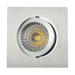 Lathe Aluminum GU10 MR16 Square Recessed Tilt LED Spot Down Light (LT2201) pictures & photos