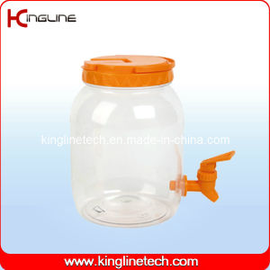 2500ml Plastic Water Jug Wholesale BPA Free with Spigot (KL-8008) pictures & photos